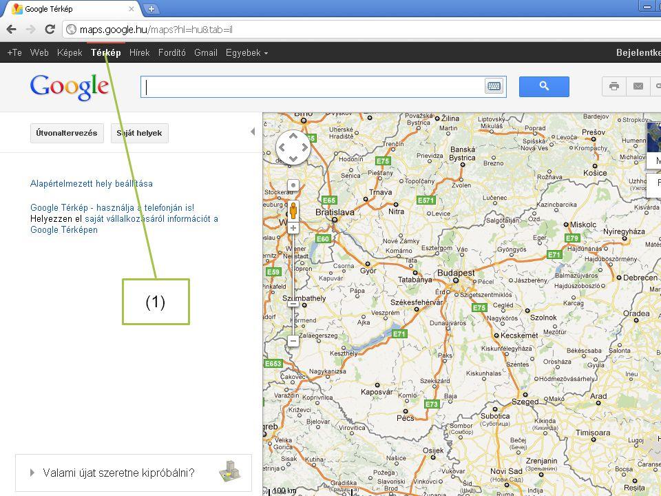 (1) Használhatjuk a Google térképeit is (1)!