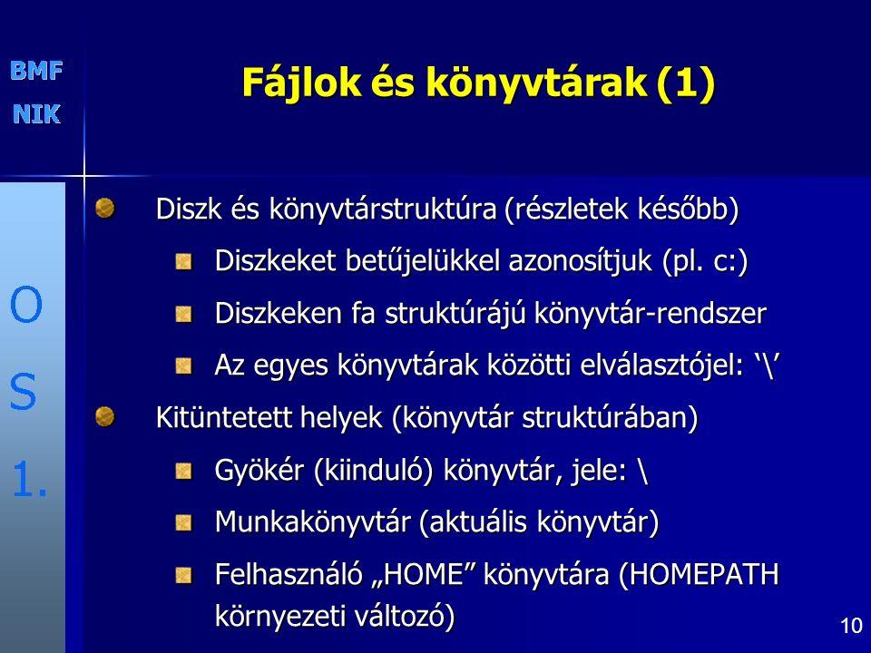 Fájlok és könyvtárak (1)
