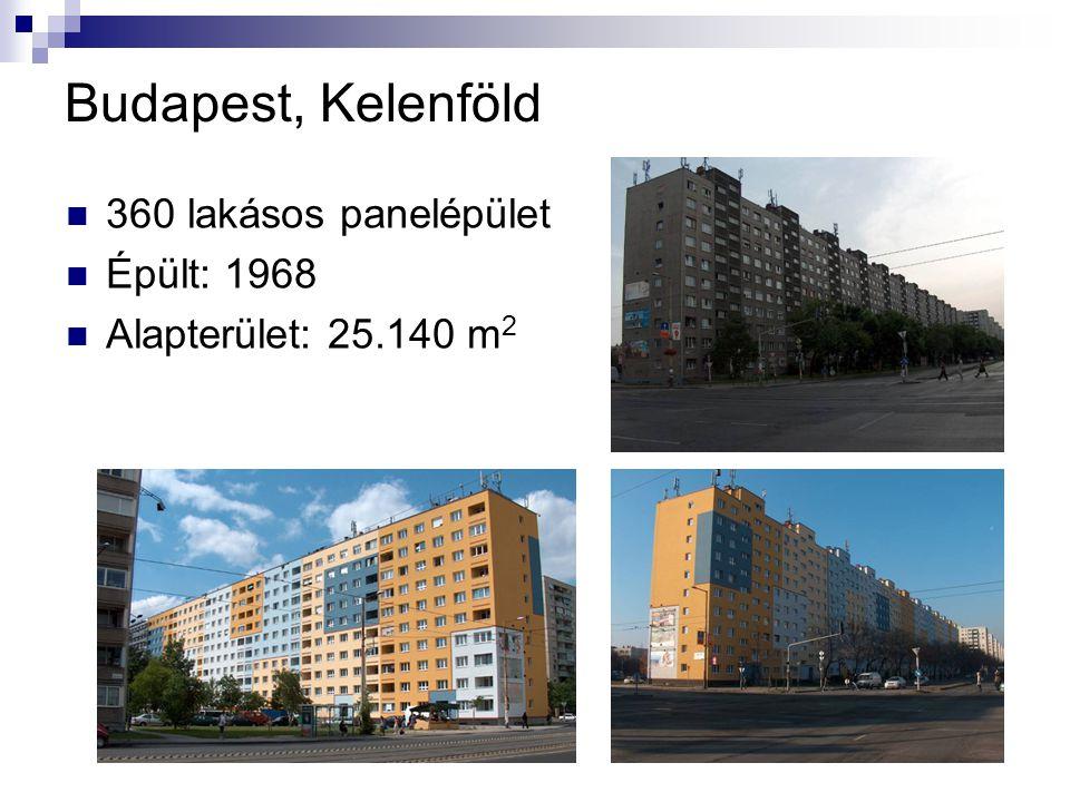 Budapest, Kelenföld 360 lakásos panelépület Épült: 1968
