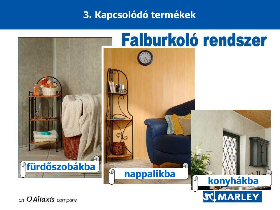 Falburkoló rendszer 3. Kapcsolódó termékek fürdőszobákba nappalikba