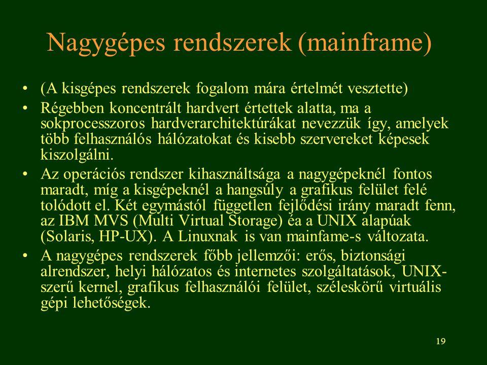 Nagygépes rendszerek (mainframe)