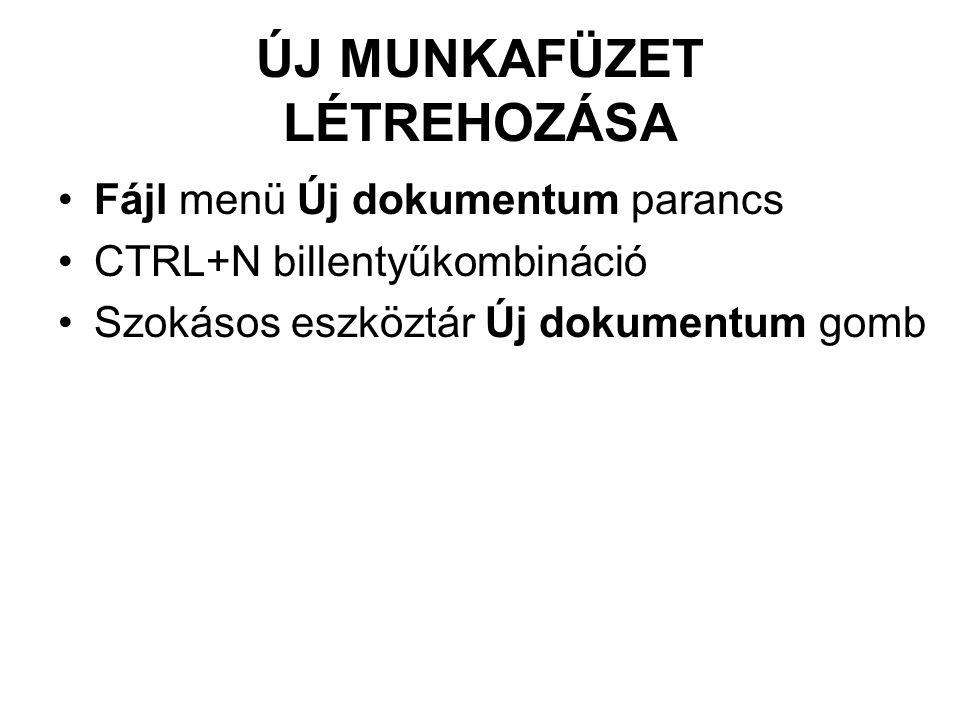 ÚJ MUNKAFÜZET LÉTREHOZÁSA