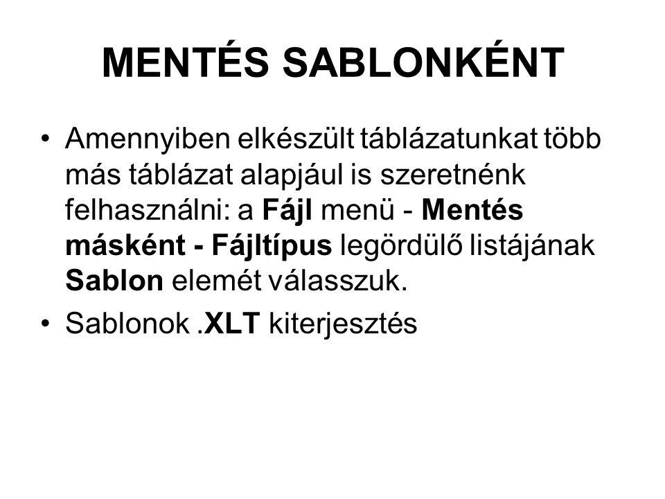 MENTÉS SABLONKÉNT