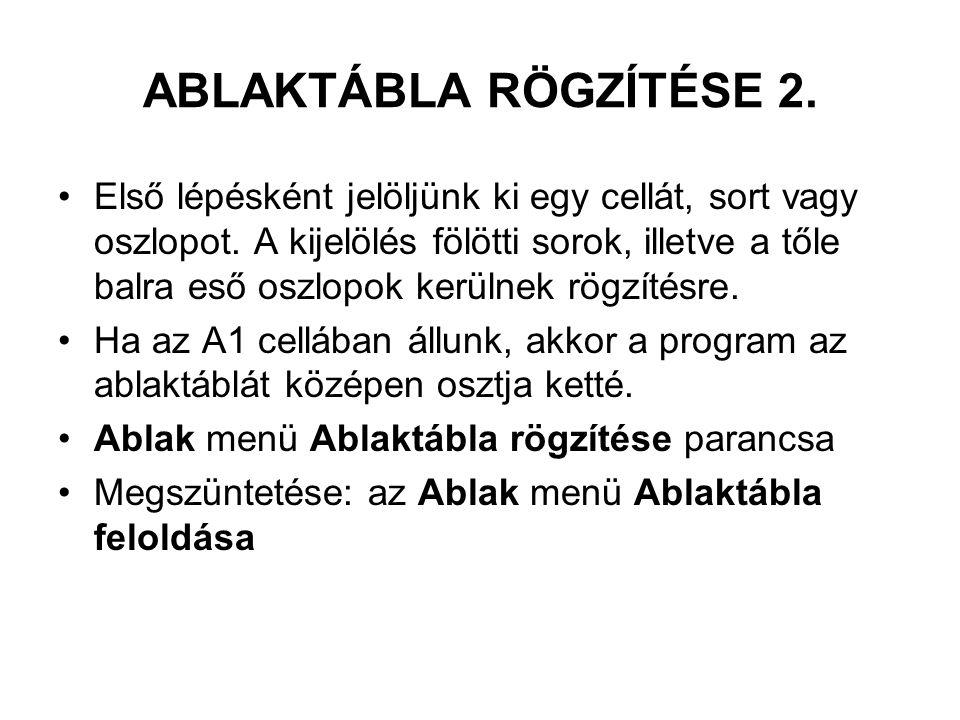 ABLAKTÁBLA RÖGZÍTÉSE 2.