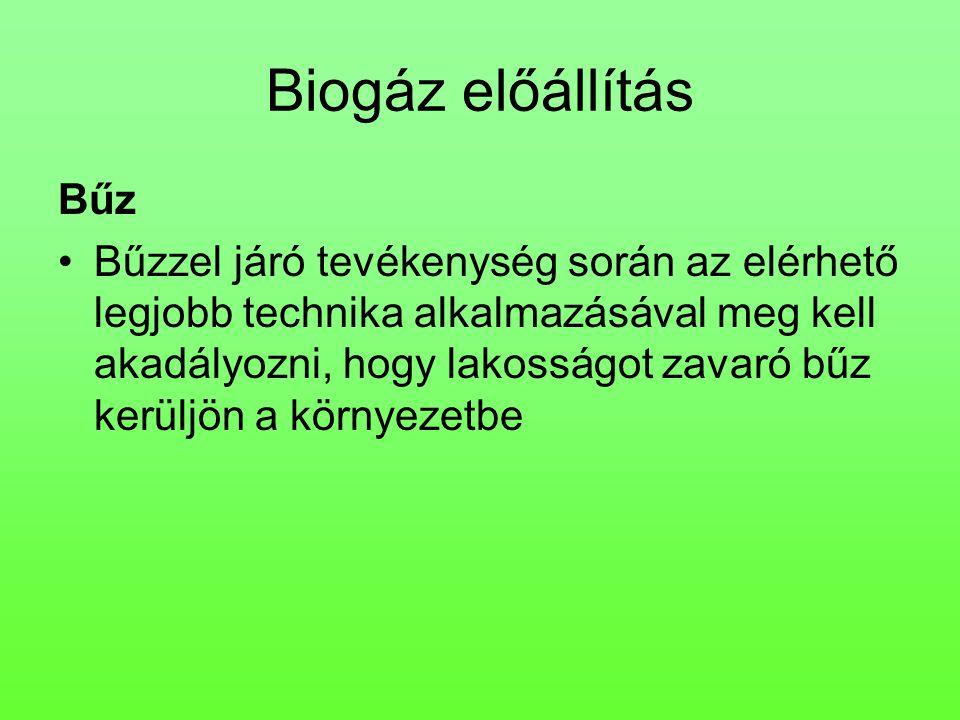 Biogáz előállítás Bűz.