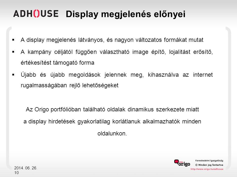Display megjelenés előnyei