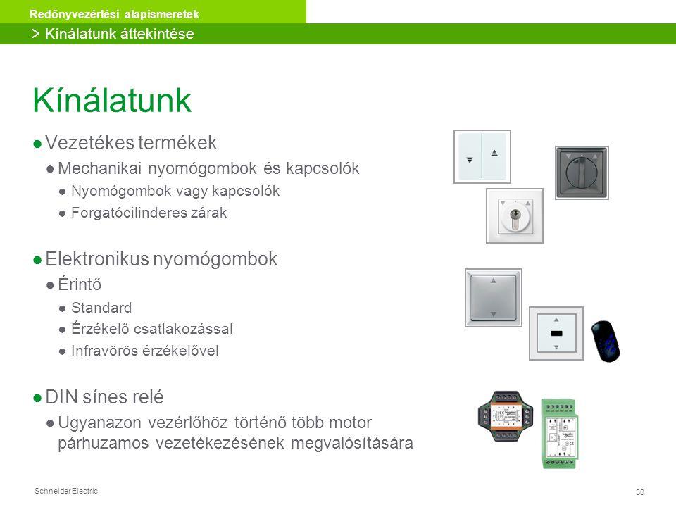 Kínálatunk Vezetékes termékek Elektronikus nyomógombok DIN sínes relé