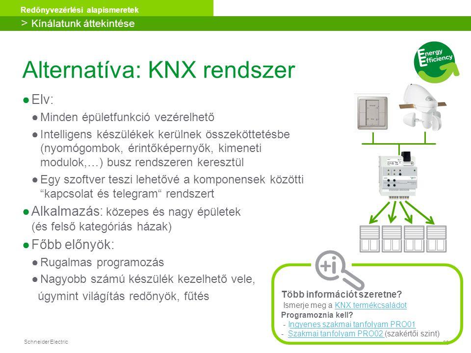 Alternatíva: KNX rendszer