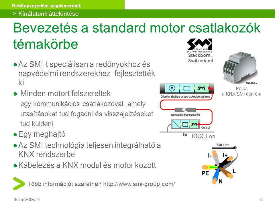 Bevezetés a standard motor csatlakozók témakörbe