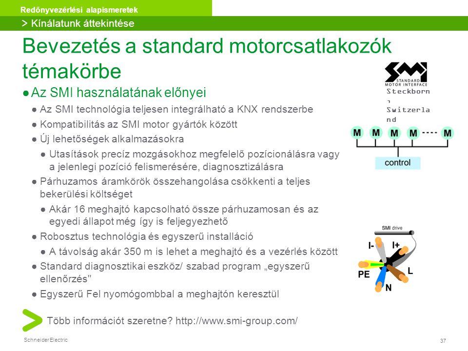 Bevezetés a standard motorcsatlakozók témakörbe