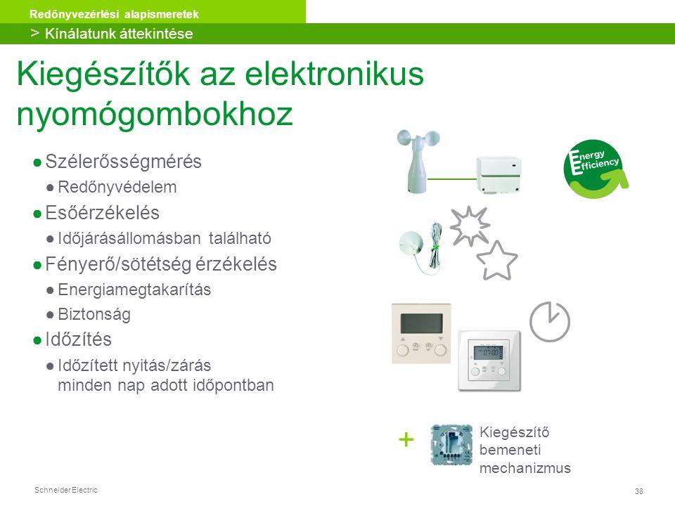 Kiegészítők az elektronikus nyomógombokhoz