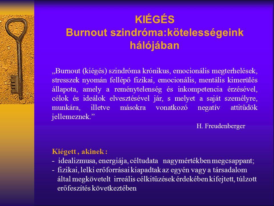 Burnout szindróma:kötelességeink hálójában