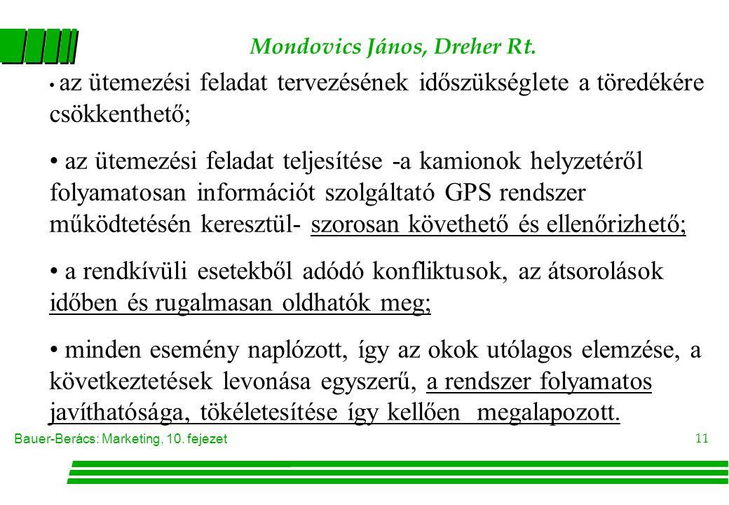 Mondovics János, Dreher Rt.