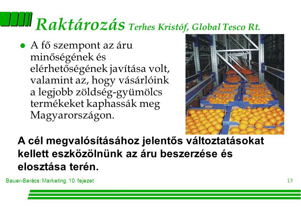 Raktározás Terhes Kristóf, Global Tesco Rt.