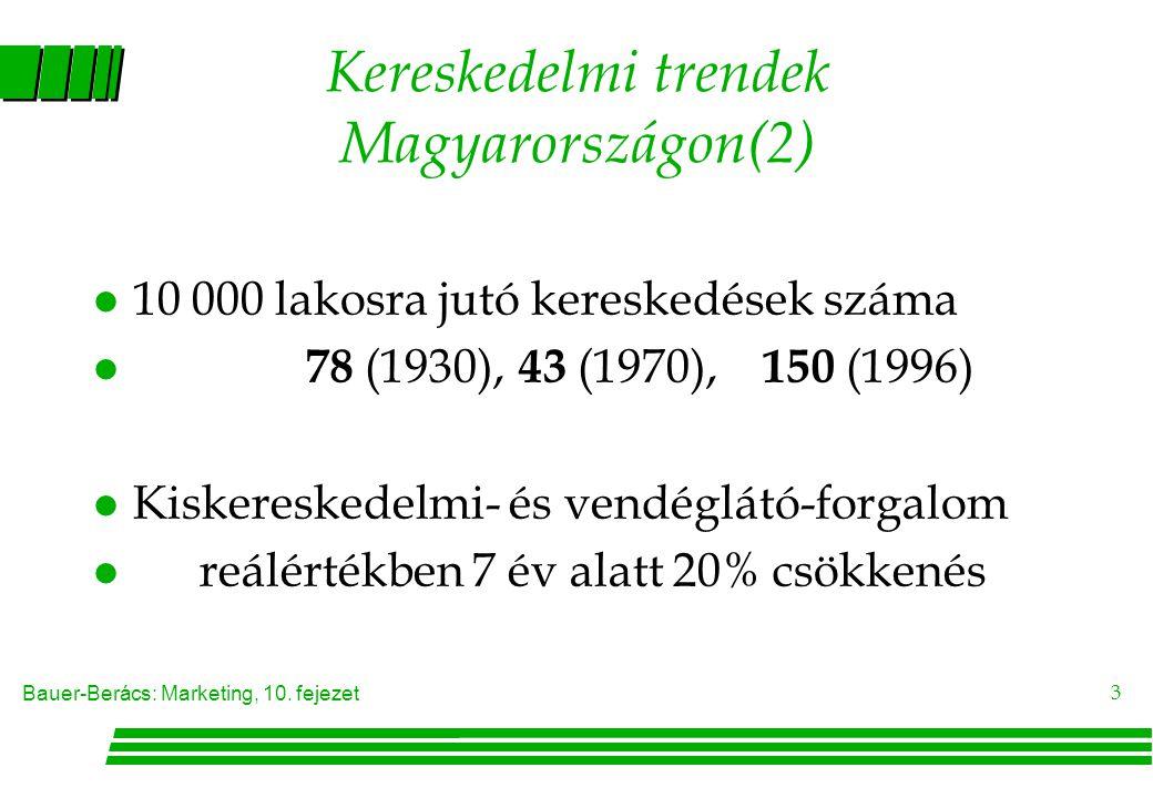Kereskedelmi trendek Magyarországon(2)