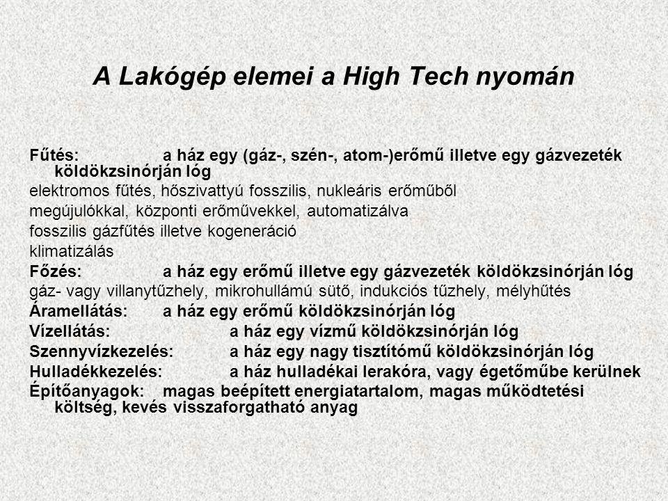 A Lakógép elemei a High Tech nyomán