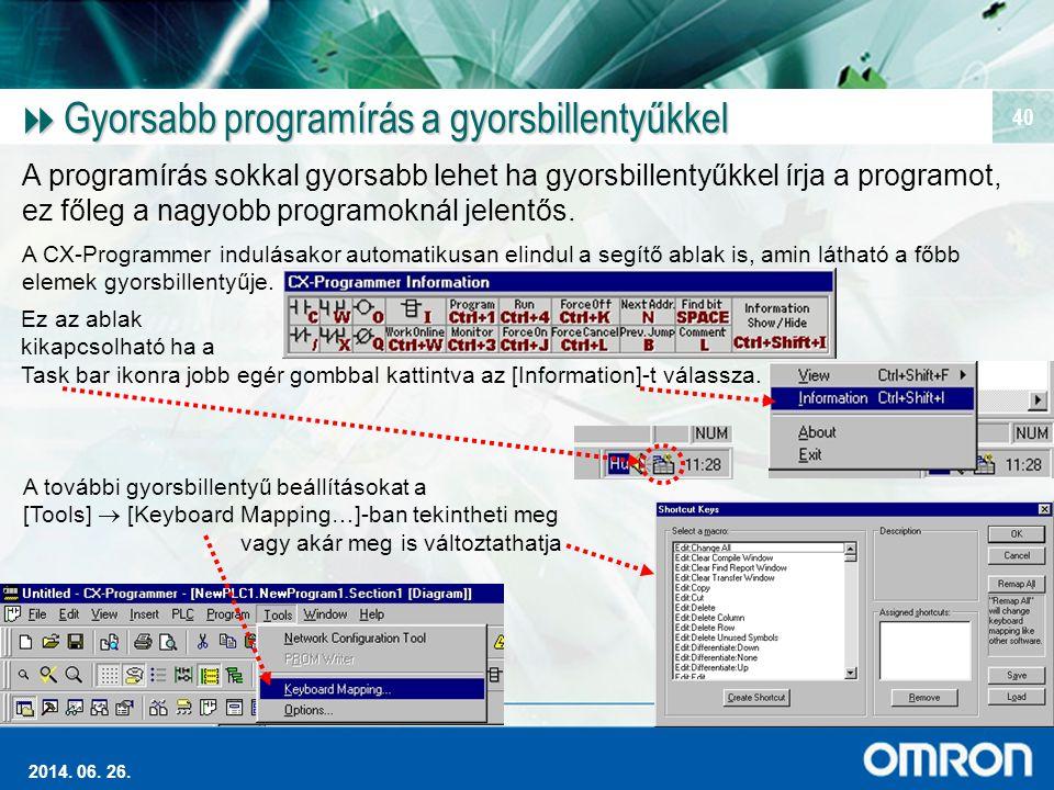 Gyorsabb programírás a gyorsbillentyűkkel