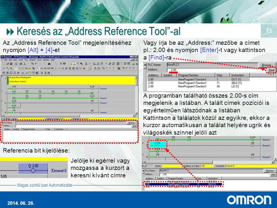 """Keresés az """"Address Reference Tool -al"""