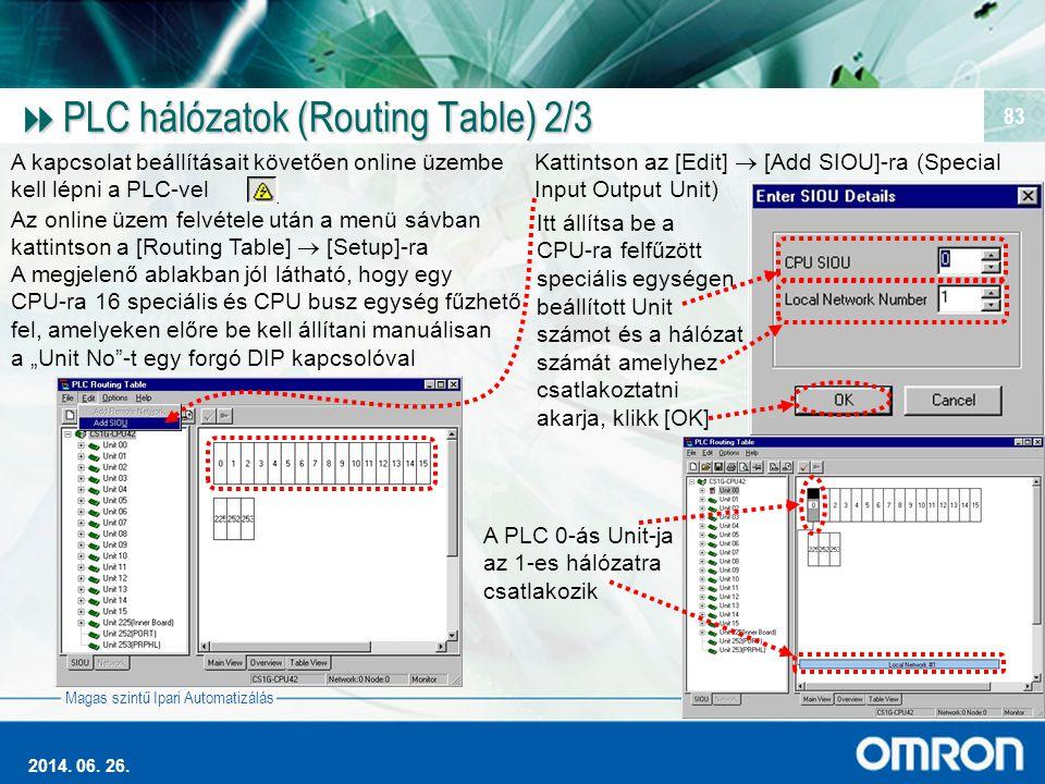 PLC hálózatok (Routing Table) 2/3