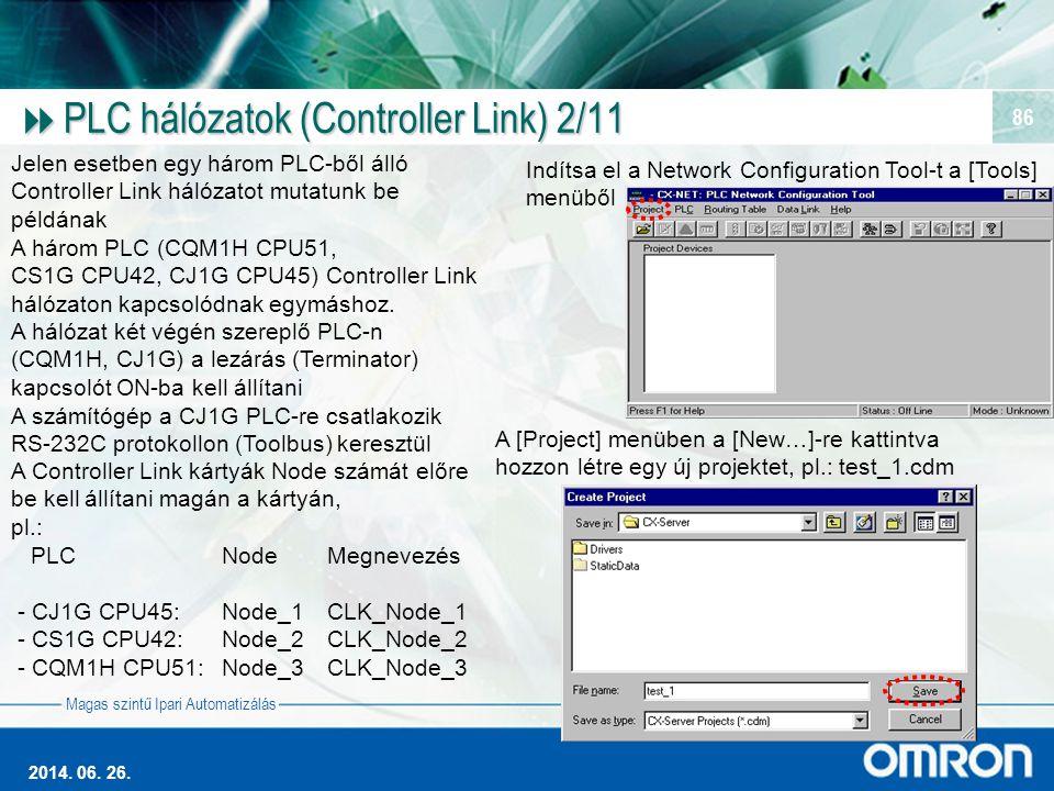 PLC hálózatok (Controller Link) 2/11