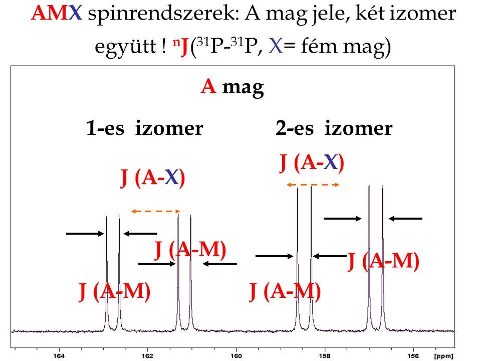 AMX spinrendszerek: A mag jele, két izomer együtt
