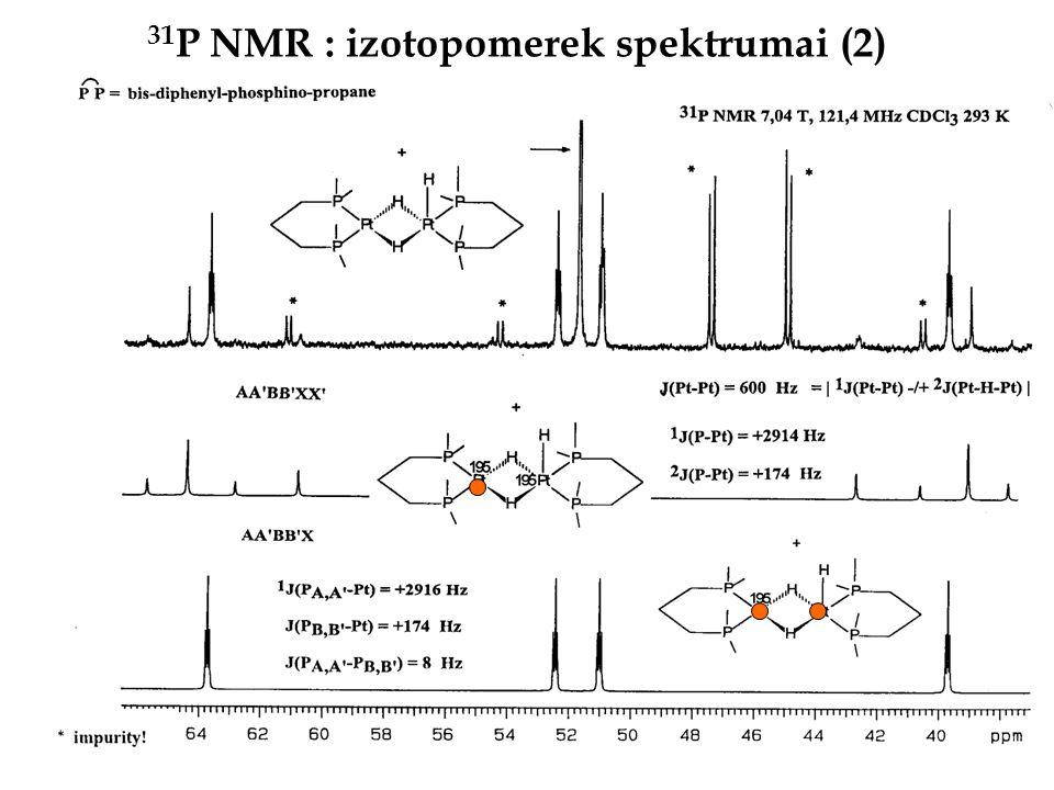 31P NMR : izotopomerek spektrumai (2)