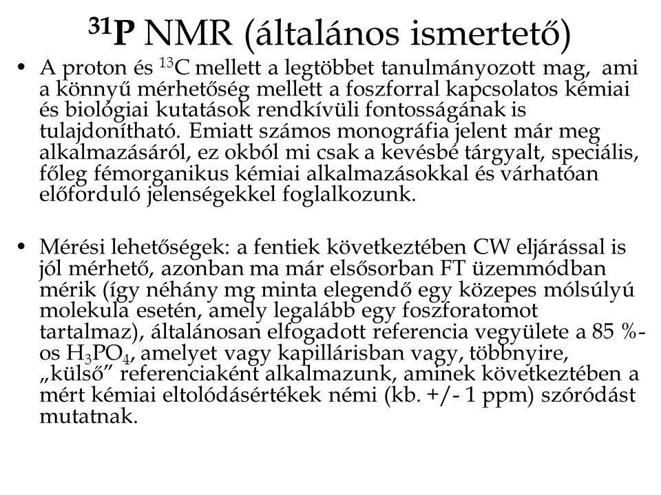 31P NMR (általános ismertető)