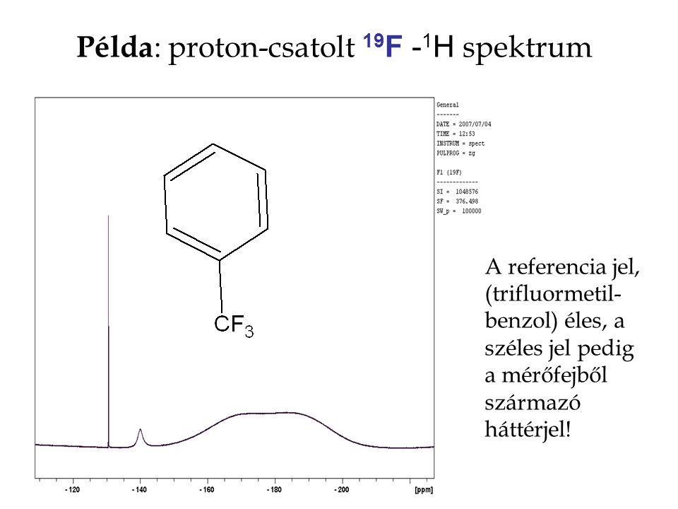 Példa: proton-csatolt 19F -1H spektrum