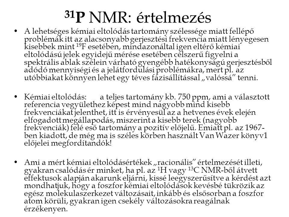 31P NMR: értelmezés