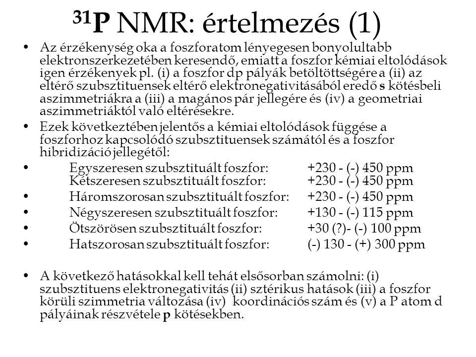 31P NMR: értelmezés (1)