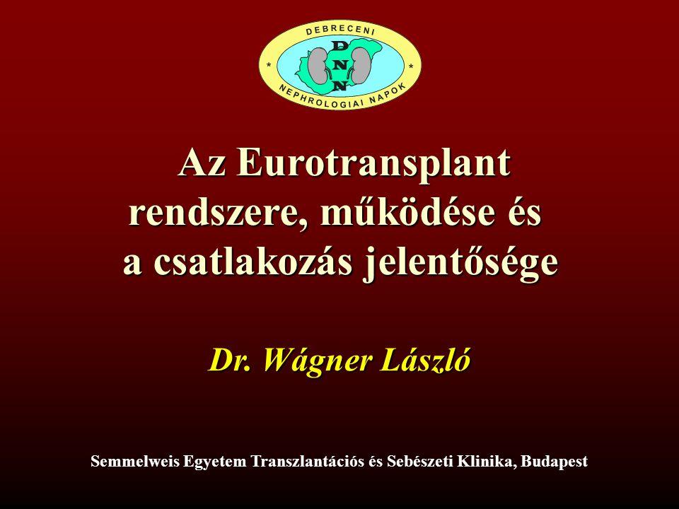 Az Eurotransplant rendszere, működése és a csatlakozás jelentősége
