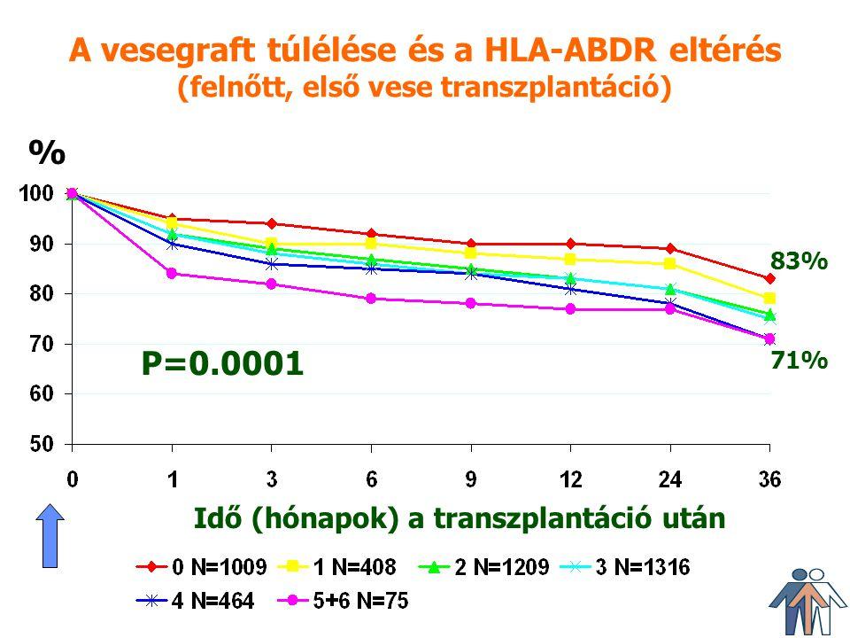 A vesegraft túlélése és a HLA-ABDR eltérés (felnőtt, első vese transzplantáció)