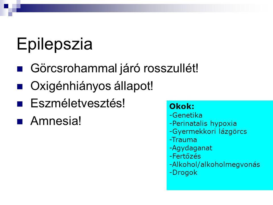 Epilepszia Görcsrohammal járó rosszullét! Oxigénhiányos állapot!