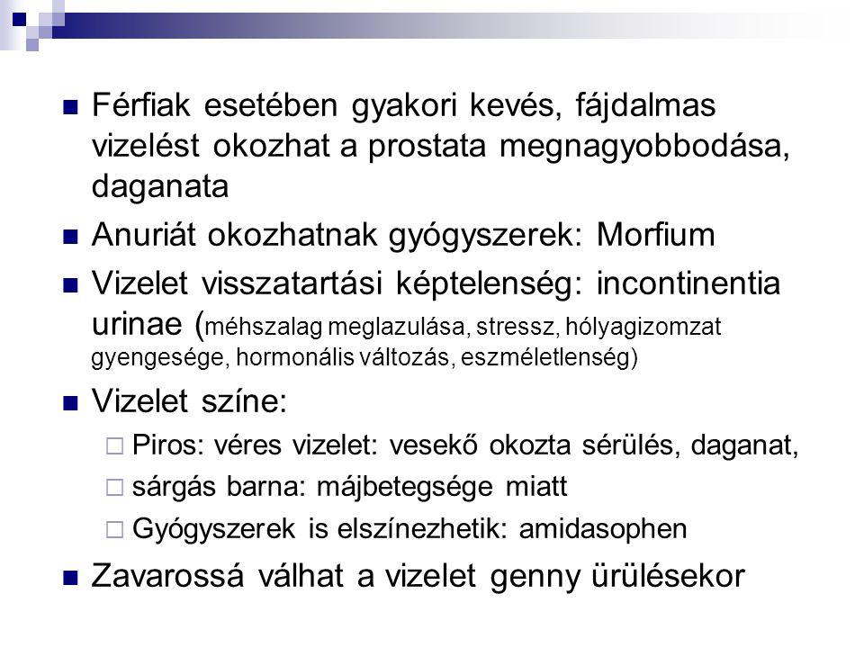 Anuriát okozhatnak gyógyszerek: Morfium