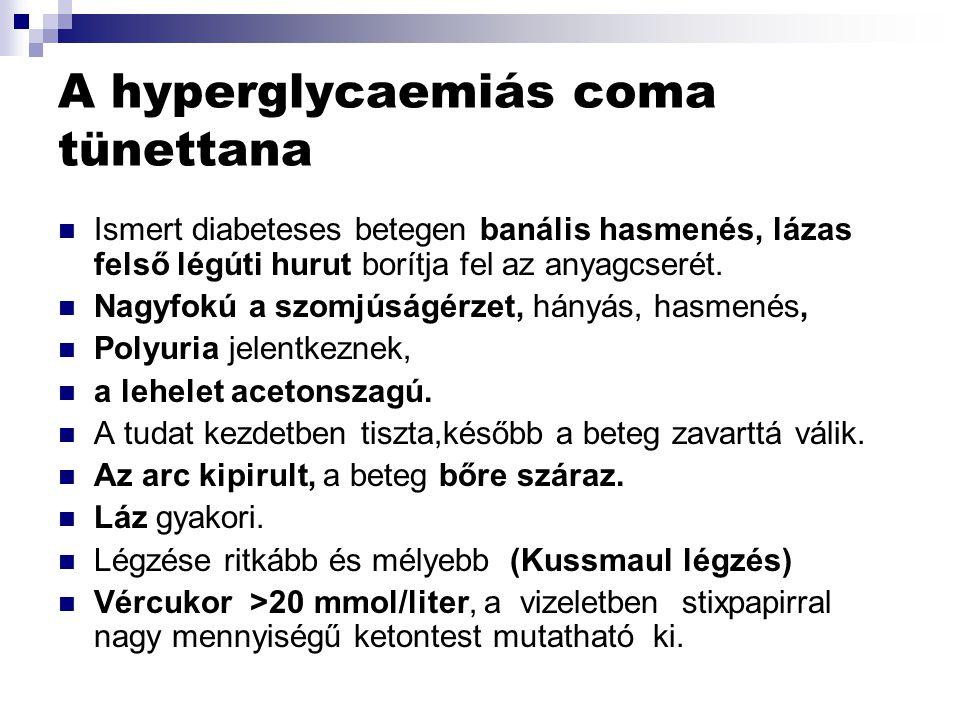 A hyperglycaemiás coma tünettana