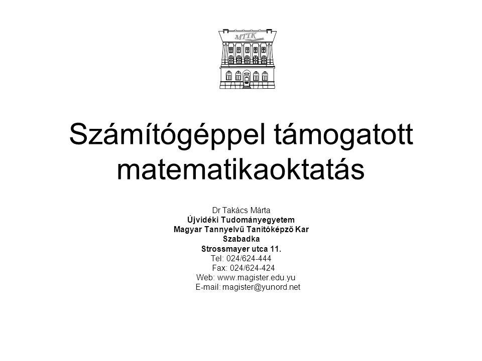 Számítógéppel támogatott matematikaoktatás