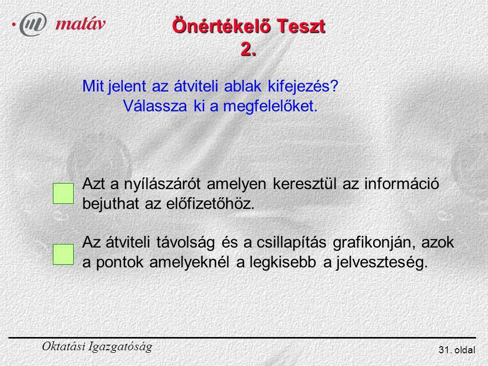 Önértékelő Teszt 2. Mit jelent az átviteli ablak kifejezés