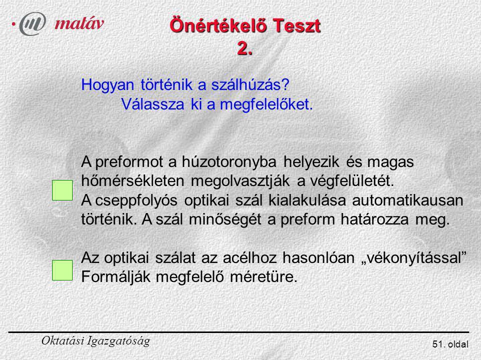 Önértékelő Teszt 2. Hogyan történik a szálhúzás