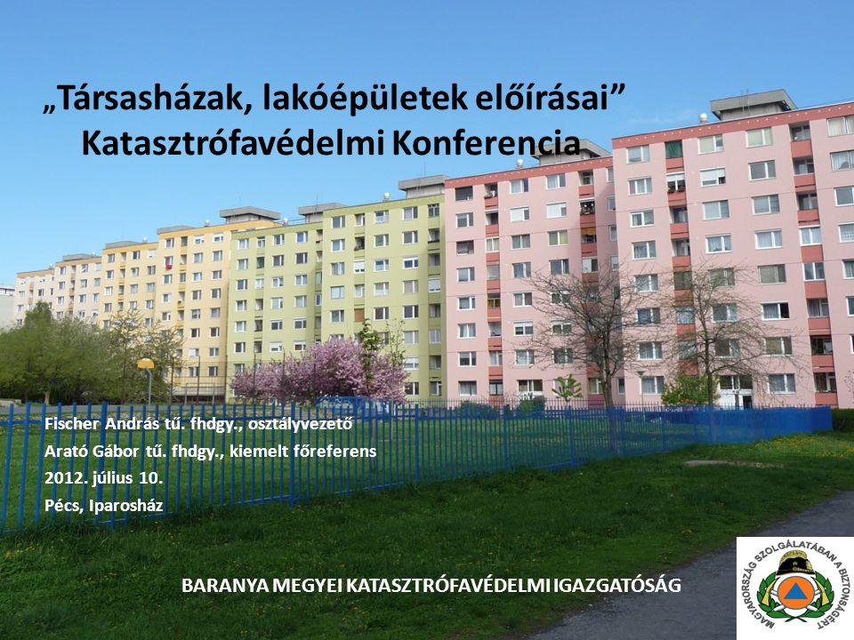 """""""Társasházak, lakóépületek előírásai Katasztrófavédelmi Konferencia"""