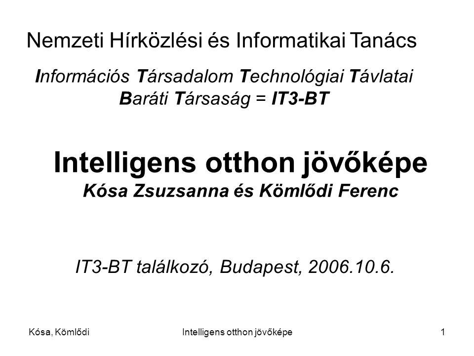 Intelligens otthon jövőképe Kósa Zsuzsanna és Kömlődi Ferenc