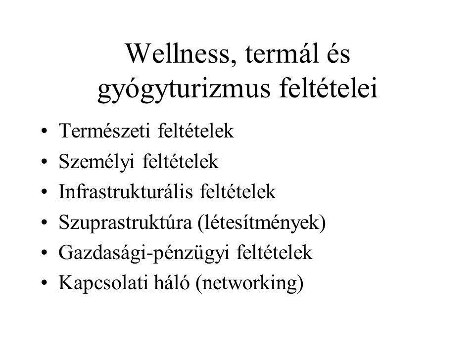Wellness, termál és gyógyturizmus feltételei
