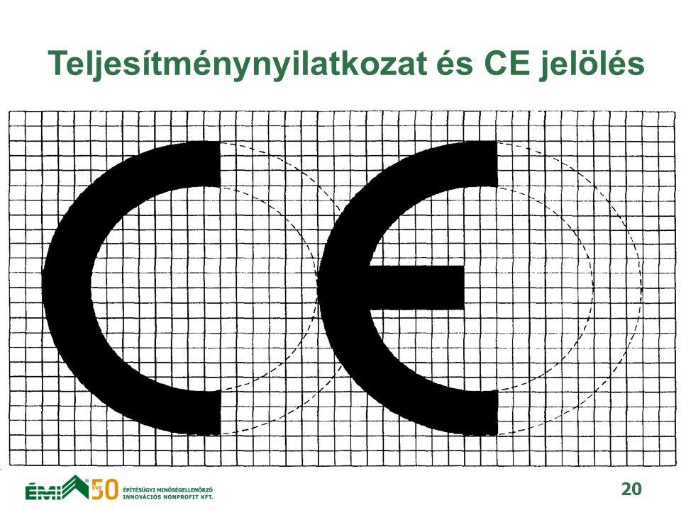 Teljesítménynyilatkozat és CE jelölés