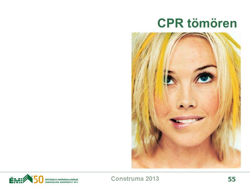 CPR tömören Construma 2013