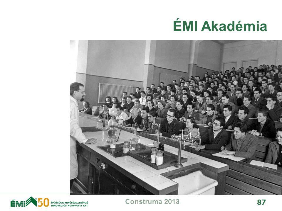 ÉMI Akadémia Construma 2013