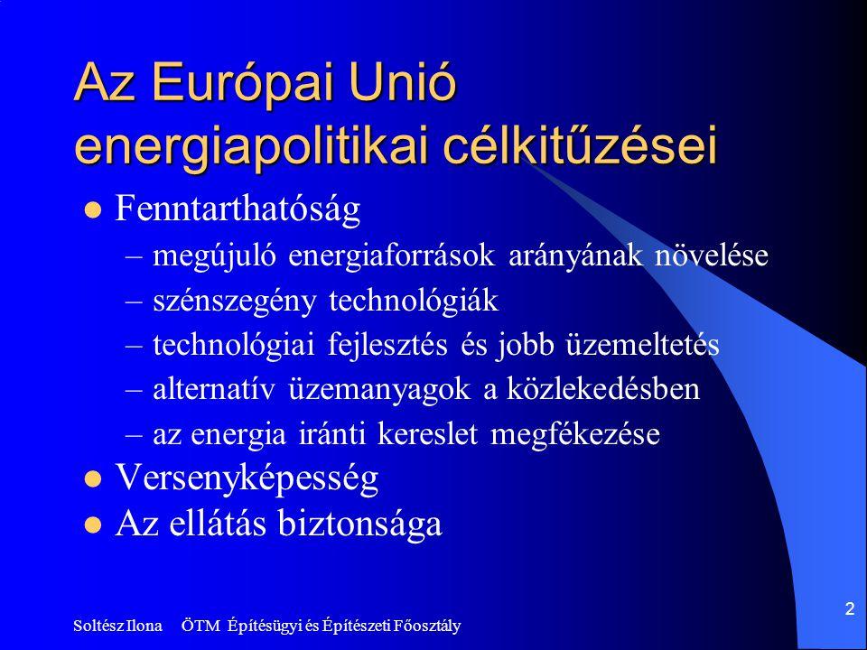 Az Európai Unió energiapolitikai célkitűzései