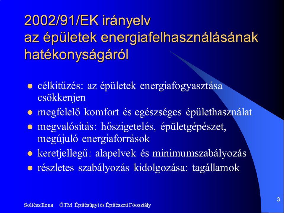 2002/91/EK irányelv az épületek energiafelhasználásának hatékonyságáról