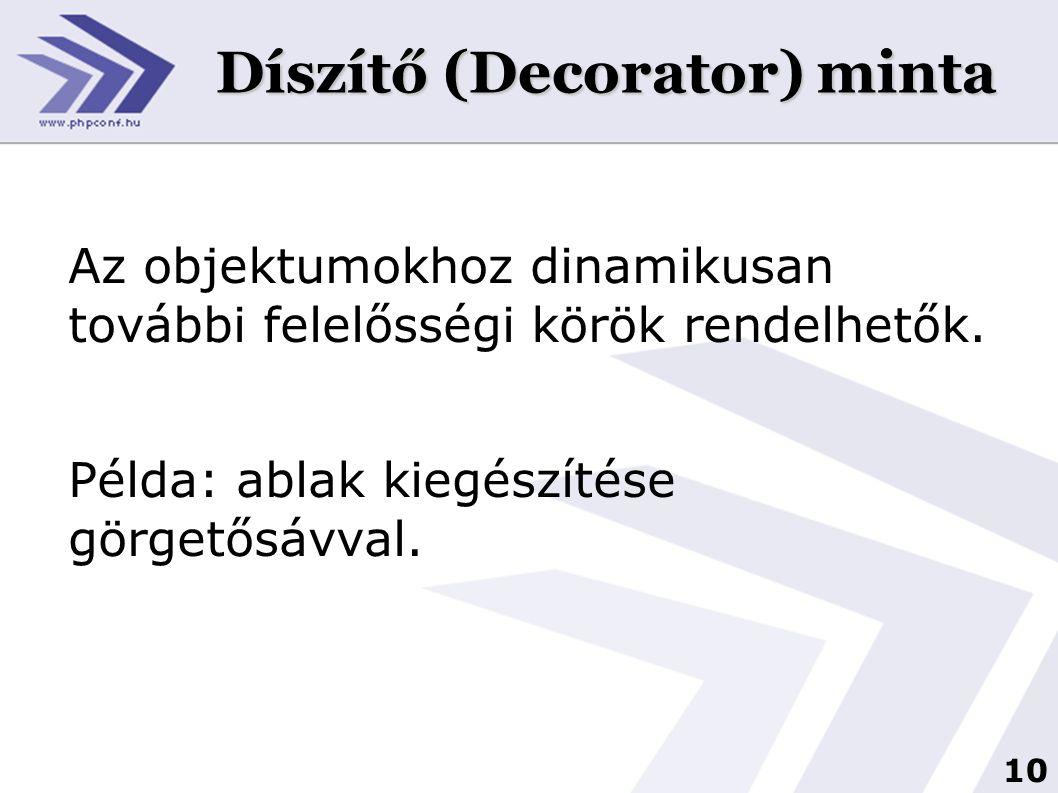 Díszítő (Decorator) minta