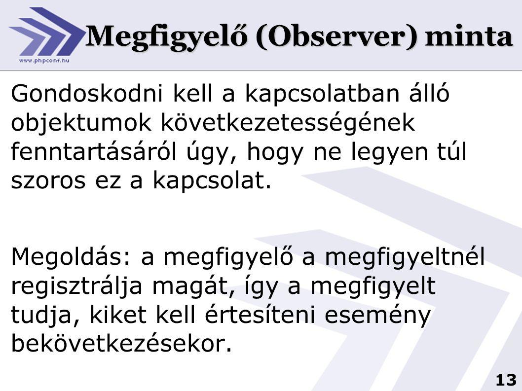 Megfigyelő (Observer) minta