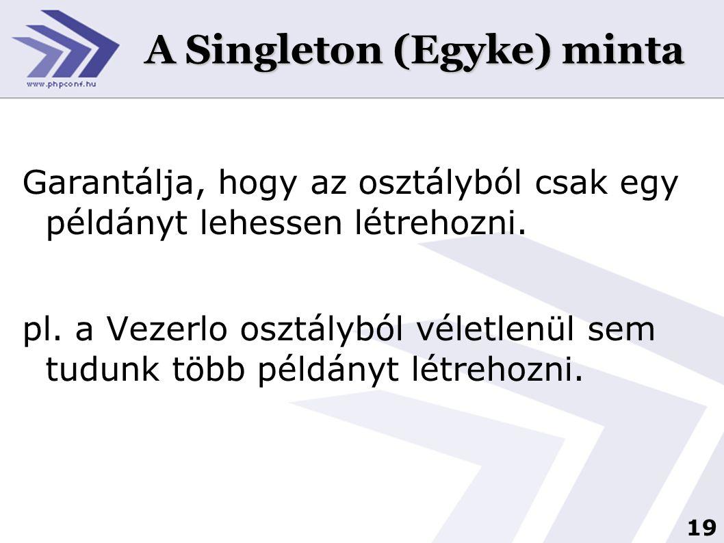 A Singleton (Egyke) minta