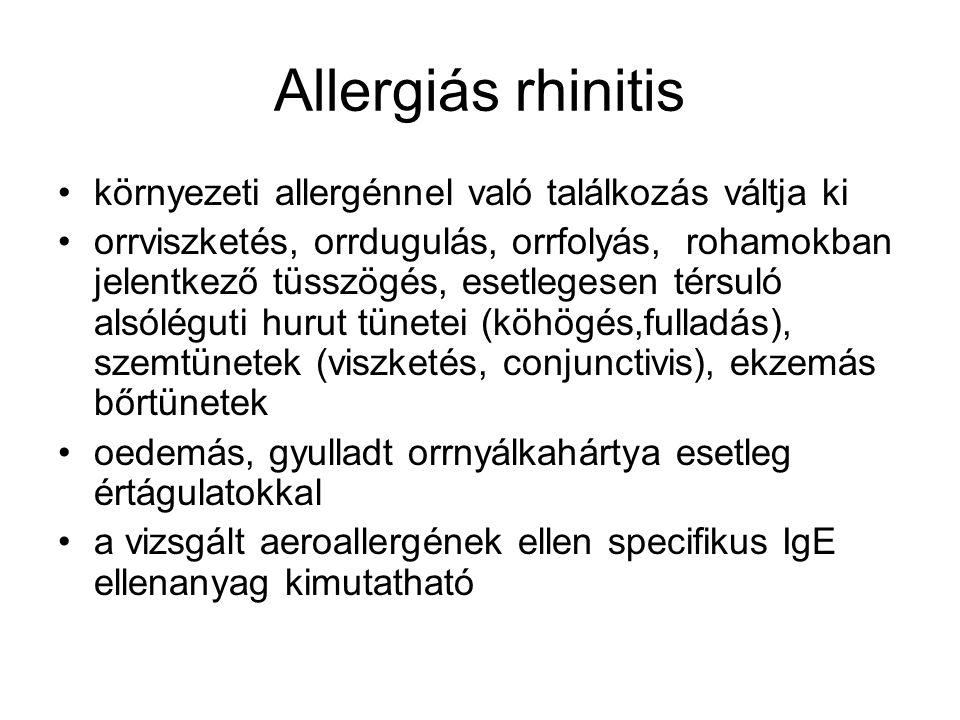 Allergiás rhinitis környezeti allergénnel való találkozás váltja ki